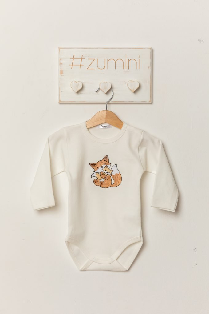 Body cu broderie sweet foxes