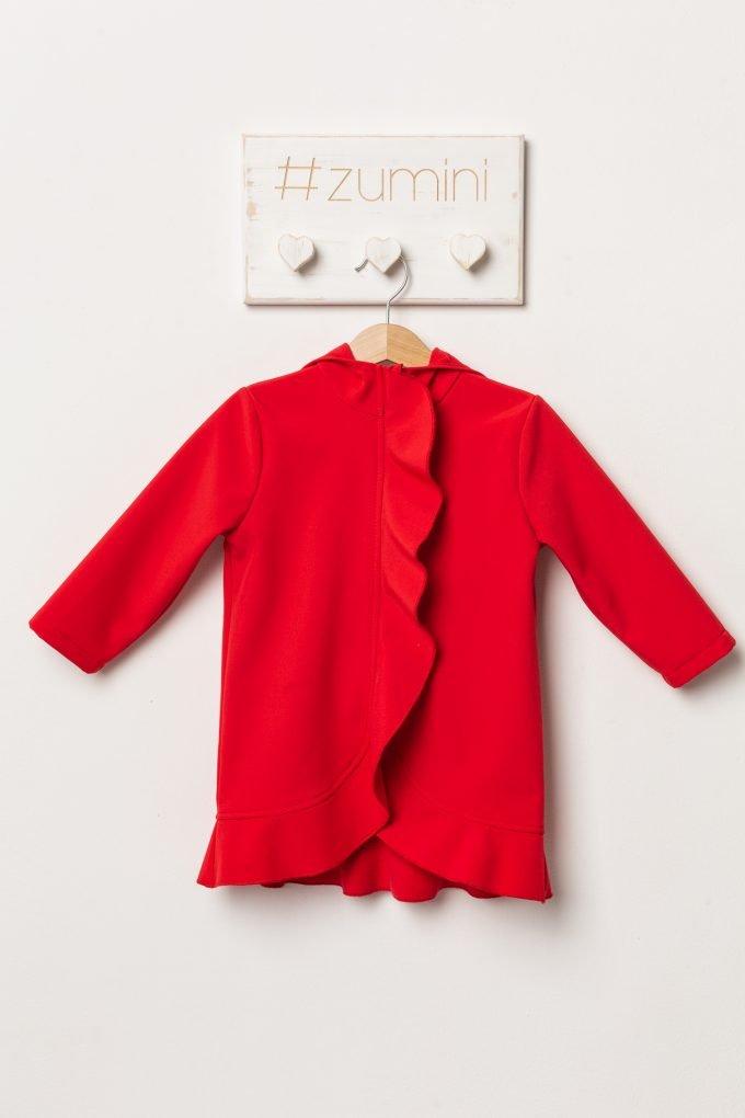 Jacheta din softshell cu gluga pentru fetite, culoare Red