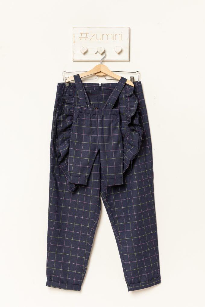 Set pantaloni mamă-fiică cu dungi colorate